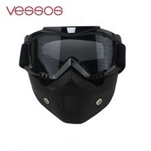 Vélo Moto Casque de Ski Masque Couverture Anti-Brouillard Froid pollution Cross-Country Lunettes Lunettes de Protection Visière Hiver(China)