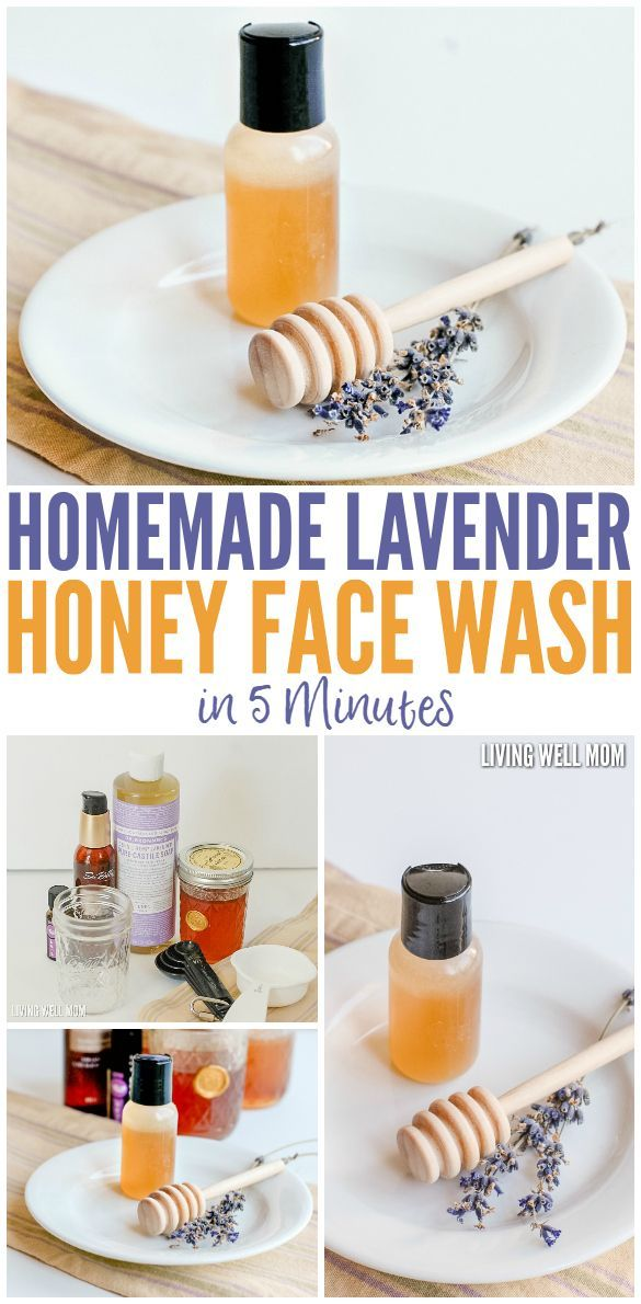 Homemade Lavender Honey Face Wash in 5 Minutes! This face wash takes just 5…