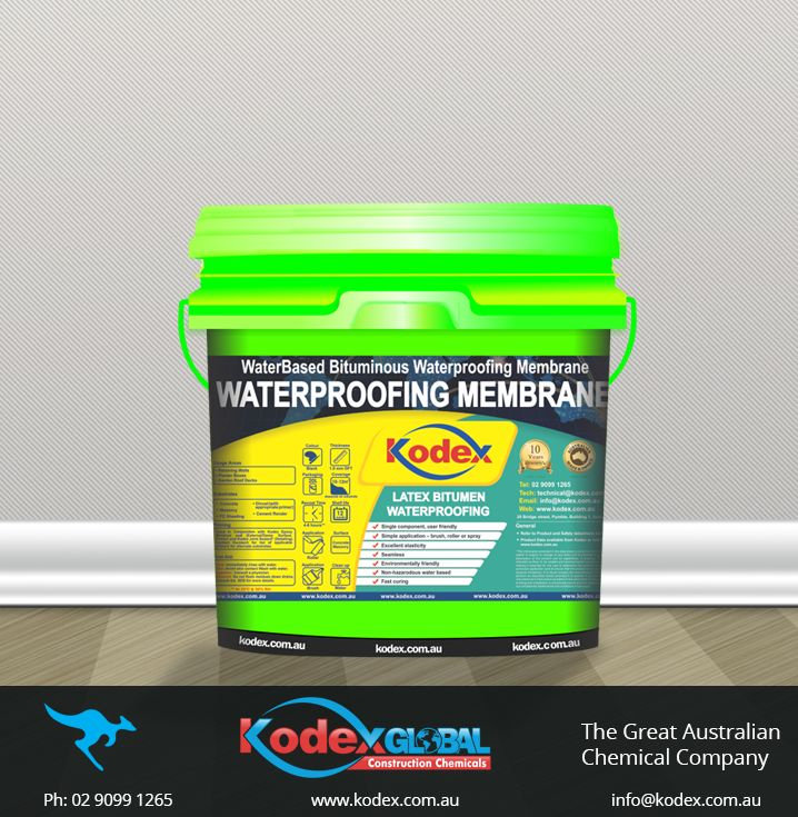 Waterproof your building surfaces - retaining walls, planter boxes with modified bituminous elastomeric waterproofing membrane, Kodex Kolastic Bitumen Latex. It will form permanent flexible lining and provide excellent elasticity with environment friendly, fast curing, non-toxic water based properties. Click here to find more: http://www.kodex.com.au/wp-content/uploads/2015/02/Kodex-Kolastic-Bitumen-Latex-membrane.pdf