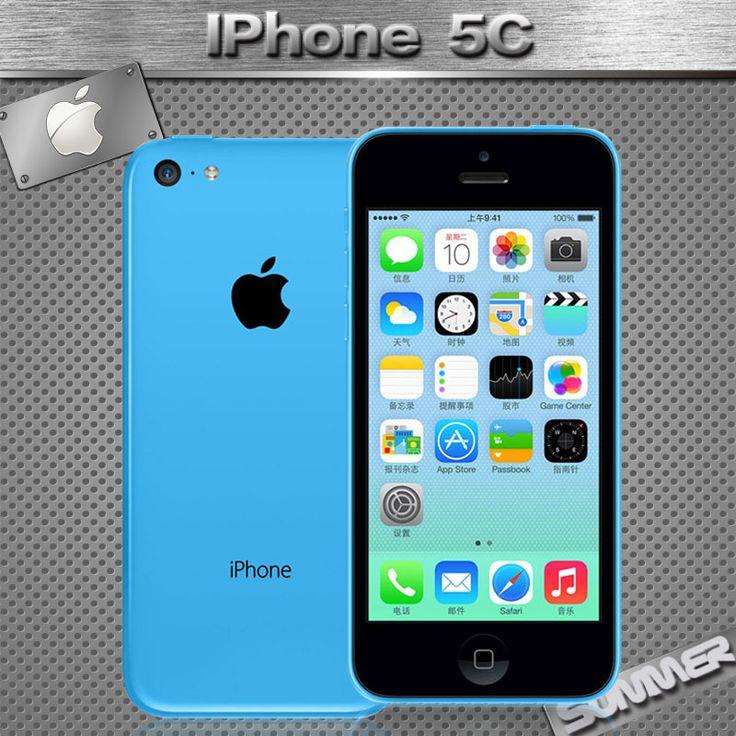 "Original Unlocked Apple iPhone 5C Cell phones 16GB 32GB dual core WCDMA+WiFi+GPS 8MP Camera 4.0"" Mobile Phone Smartphone"