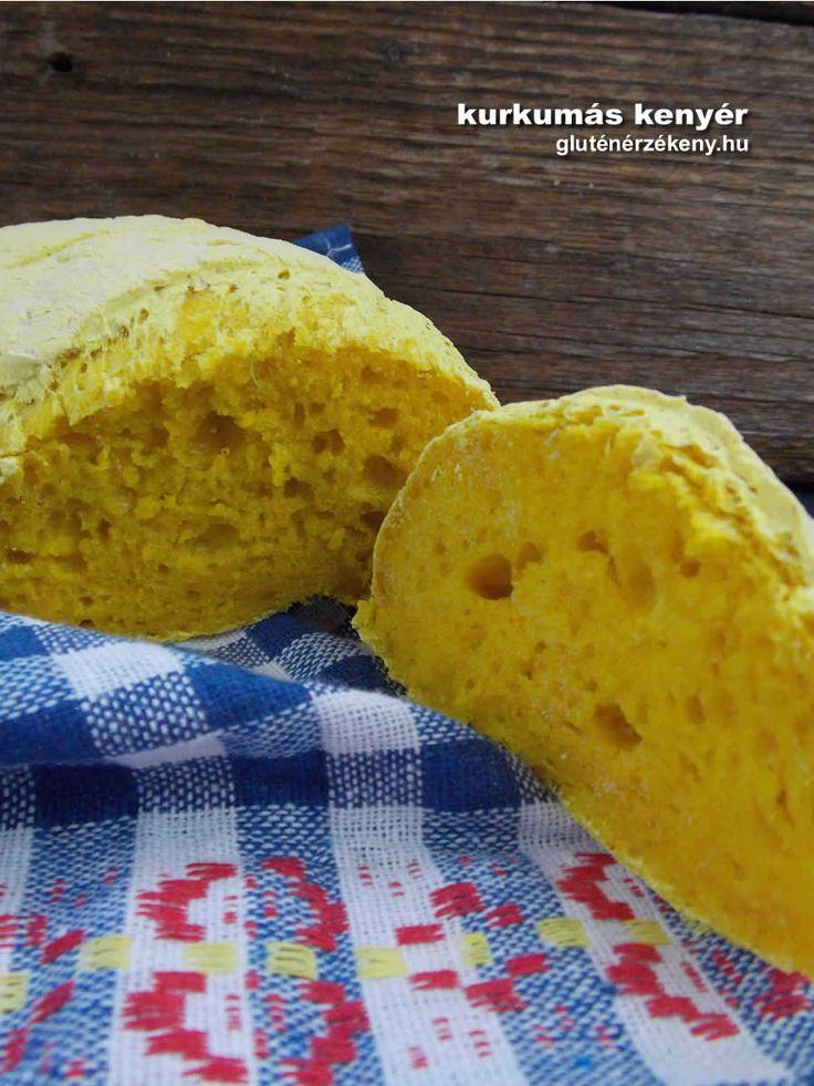 Kurkumás gluténmentes kenyér Gluténmentes kenyér receptjeinket most egy valódi különlegességgel gyarapítottuk. Madame Loulou gluténmentes kenyérporral készítettük el. Ugye szép?
