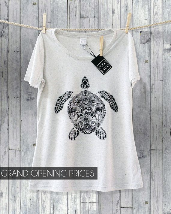 Turtles Turtle Tee T Shirt Zentangle Sea Turtle Boho by COCOLAGO