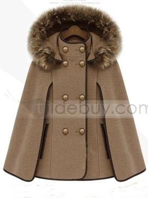 New Arrival Gorgeous Euramerican Fashion Woolen Cape Coat : Tidebuy.com #tidebuy