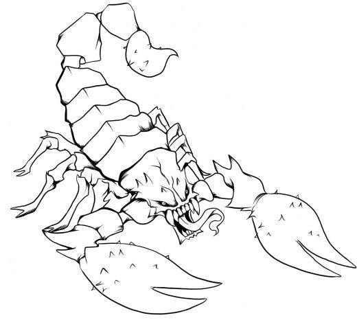 ТриТатушки » Архив блога » Эскизы тату скорпион | Рисунки ...