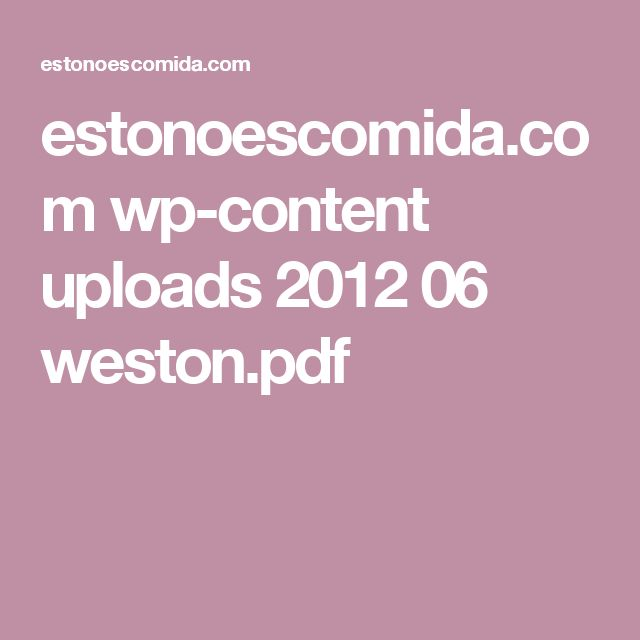 estonoescomida.com wp-content uploads 2012 06 weston.pdf
