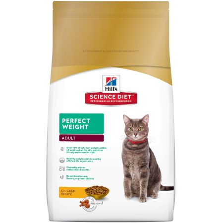 Hill's Science Diet Perfect Weight Chicken Recipe Premium Natural Cat Food Adult, 7 lb