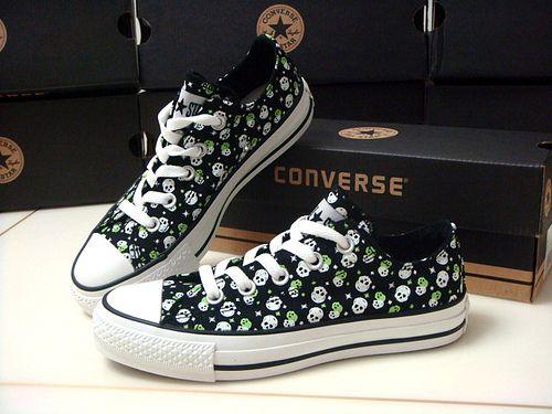 converse ★ Chuck Taylor★ seasonal ◆ black & green small skull by converse