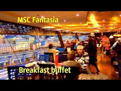 Круизный лайнер шведский стол завтрак на лайнере МСК Фантазия