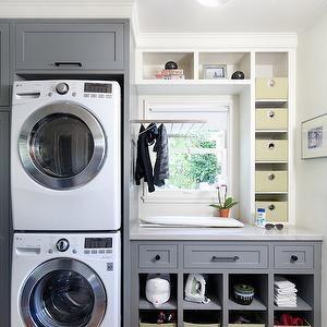 Laundry Room Cubbies, Contemporary, laundry room, Jessica Risko Smith Interior Design
