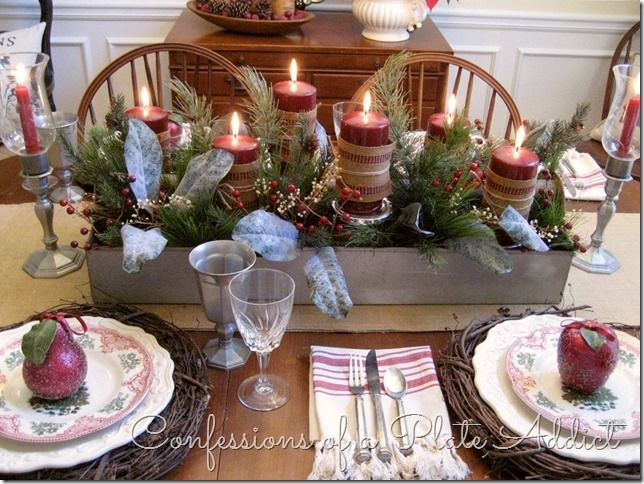 17 Best Ideas About Christmas Dining Rooms On Pinterest: 17 Best Images About Tablescapes ♥ Center Pieces ♥ Dining