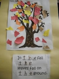 sight word idea for fall