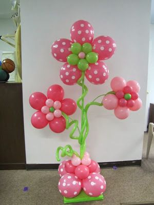 Time For The Holidays: Baby Shower or a little girls birthday Balloon Ideas