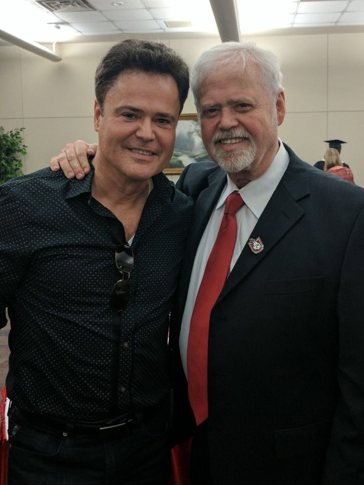 Donny and Dr Merrill Osmond