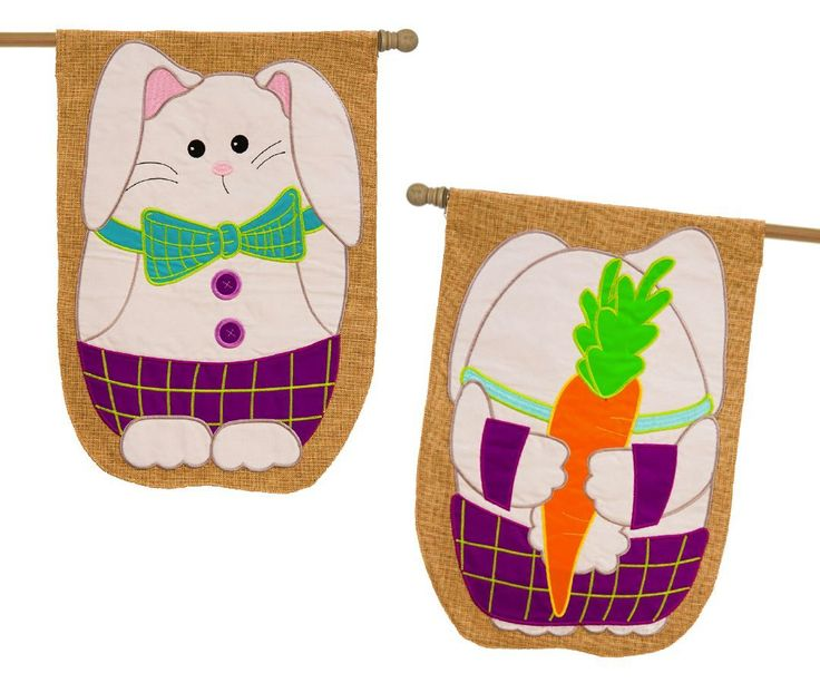 IAmEricas Flags - Burlap Easter Bunny Hiding Something 2 Sided House Flag, $30.00 (http://www.iamericasflags.com/burlap-easter-bunny-hiding-something-2-sided-house-flag/)