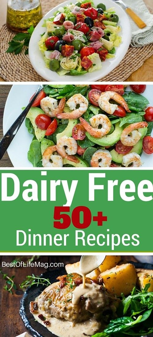 With over 50+ amazing dairy free dinner recipes to choose from there is something for everyone in this list to make cooking dairy free meals easy! via @AmyBarseghian