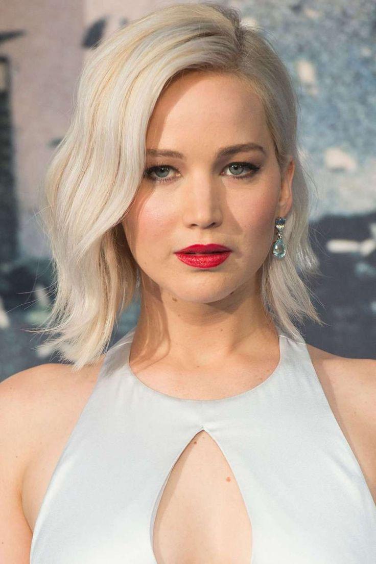 Long bob autunno 2016 - Taglio medio lungo biondo platino come Jennifer Lawrence