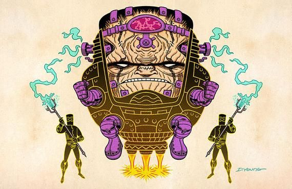 Modok Signed 11 X 17 Color Print By Darryl Young Etsy In 2020 Print 11x17 Colorful Prints