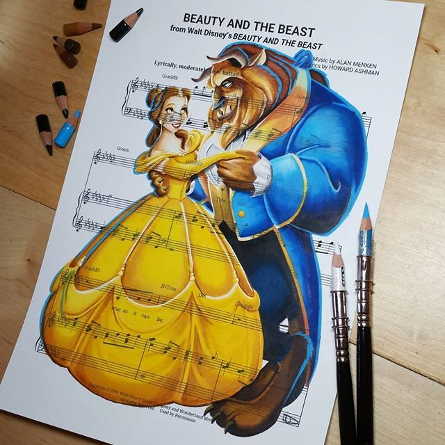 Beauty And The Beast Sheet Music With Lyrics: 4063 Best Disney Girl Images On Pinterest