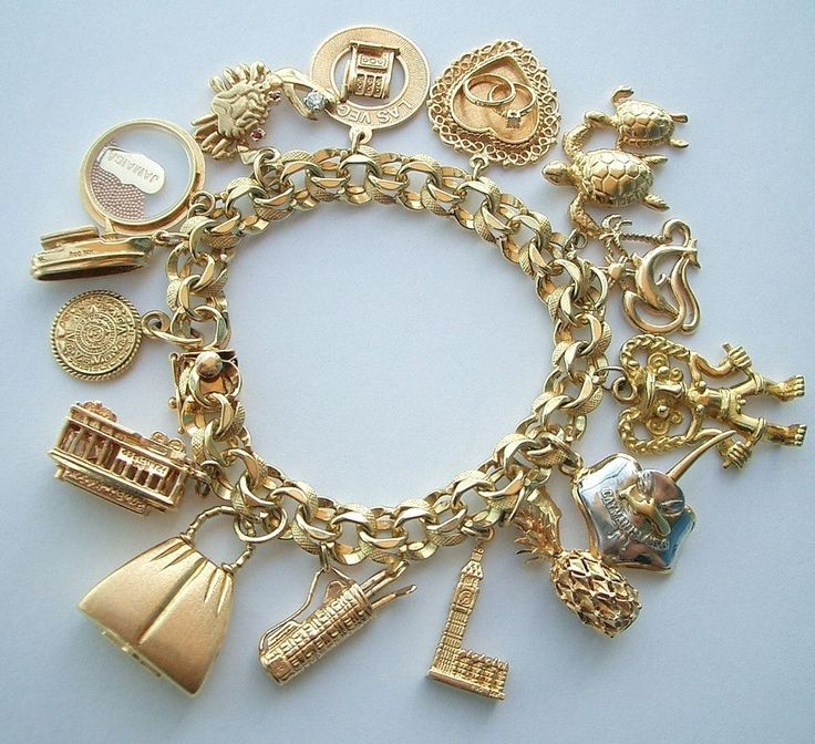 17 best ideas about gold charm bracelets on pinterest