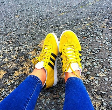 adidas gazelle womens yellow