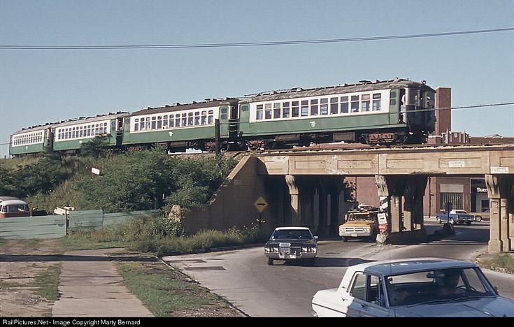 CTA 4000s Chicago Transit Authority Rapid Transit Cars at Evanston, Illinois by Marty Bernard