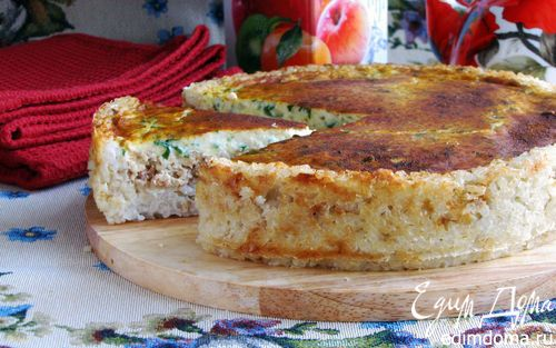 Сырный пирог из лосося | Кулинарные рецепты от «Едим дома!»