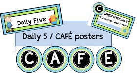 Classroom Freebies Too: CAFE and Daily Five Posters in different colors!