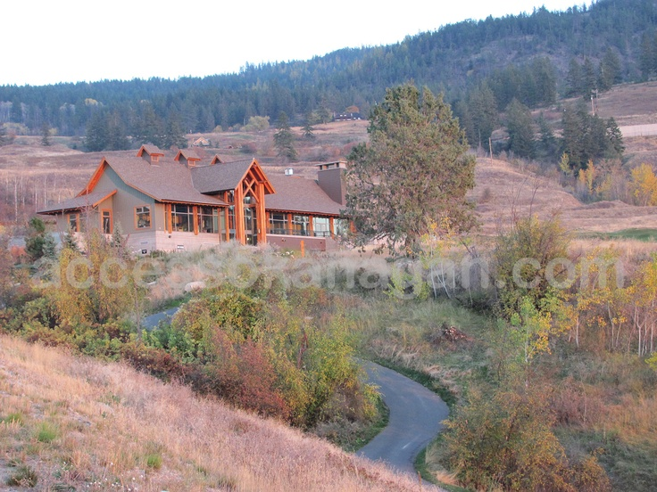 A sunset shot we took in autumn colours at Tower Ranch Clubhouse in Kelowna, right here in the Okanagan Valley, BC, Canada.