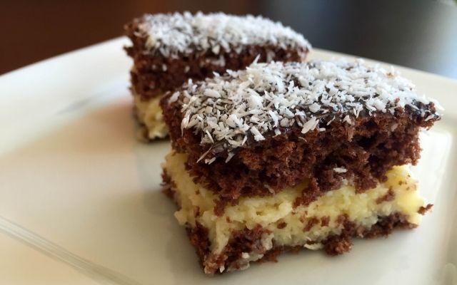 Vaníliakrémes kókuszos süti