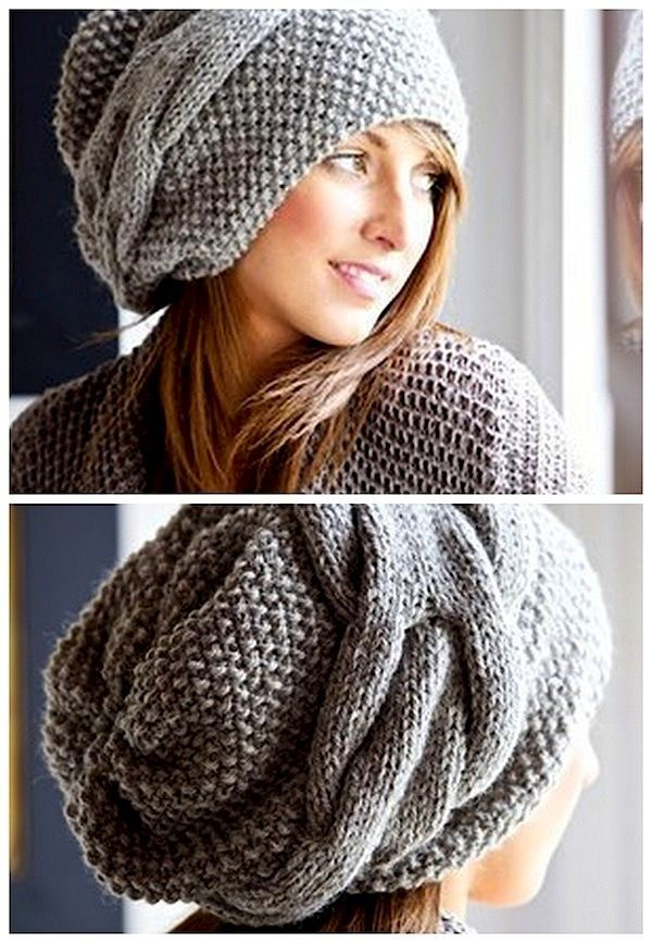 slouchy hat - knitted - inspiration