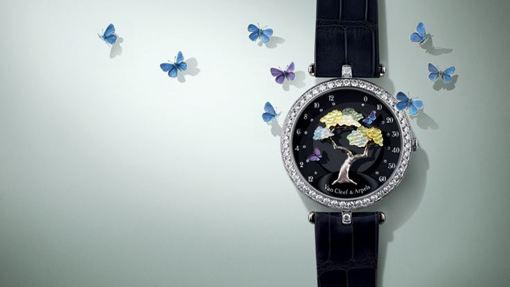 Butterfly Symphony timepiece