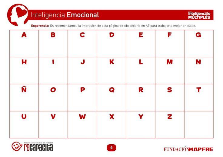 Inteligencia emocional  el Abecedario de las emociones