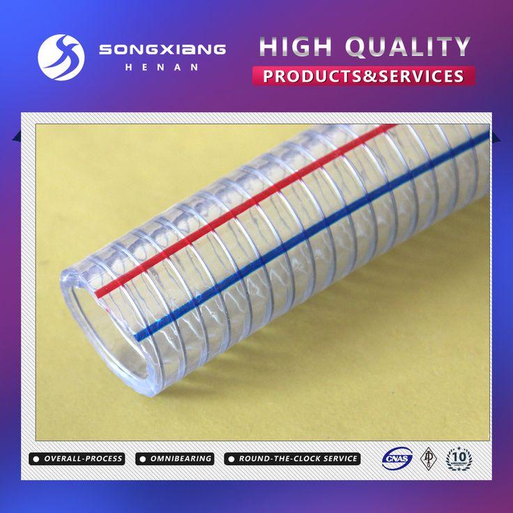 Clear pvc steel wire reinforced hydraulic hose/tube hydraulic