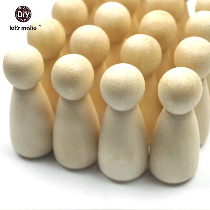 """100pc/lot girls Peg Dolls 1.35"""" Solid Hardwood Natural Unfinished Turnings Ready for Paint or Stain Waldorf Wooden People-in Dolls from Toys & Hobbies on Aliexpress.com 
