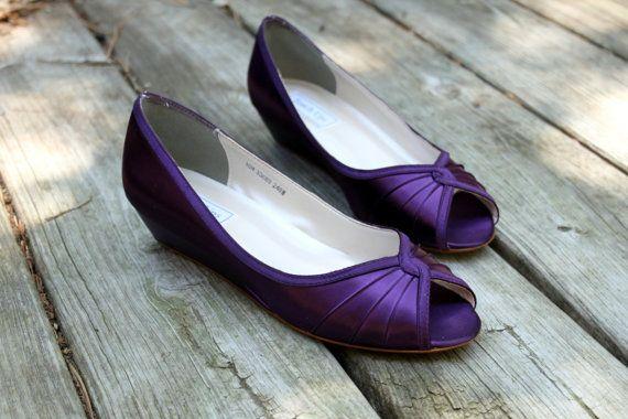 Purple Wedding Shoes Low Heel - Tbrb.info