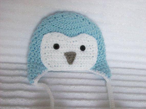 crochet newborn penguin hat