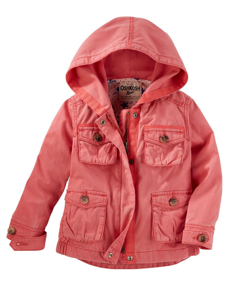 Toddler Girl Hooded Field Jacket from OshKosh B'gosh. Shop clothing & accessories from a trusted name in kids, toddlers, and baby clothes.