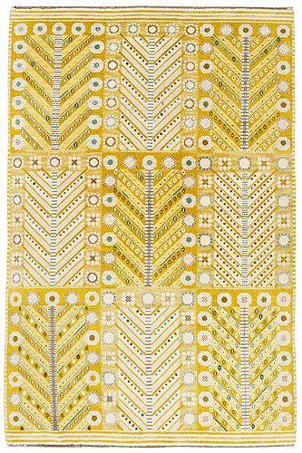 "MATTA. ""Gula trädet"". Flossa. 303,5 x 198 cm. Signerad AB MMF MR (AB Märta Måås-Fjetterström, Marianne Richter). . - Carpet Auction in Båstad, Sweden H026 – Bukowskis"
