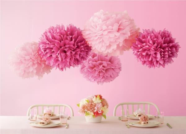 {Crafts} DIY Tissue Paper Pom Poms