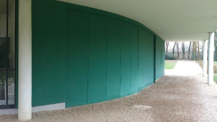 garage villa savoye le corbusier pinterest garage. Black Bedroom Furniture Sets. Home Design Ideas