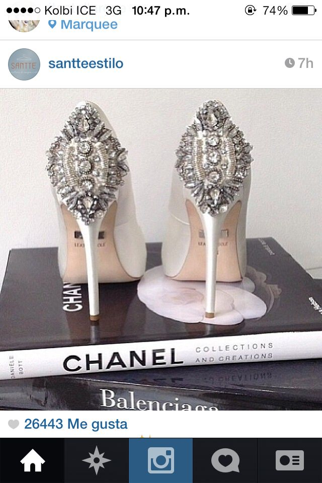 Chanel bridal shoes. For the real woman.