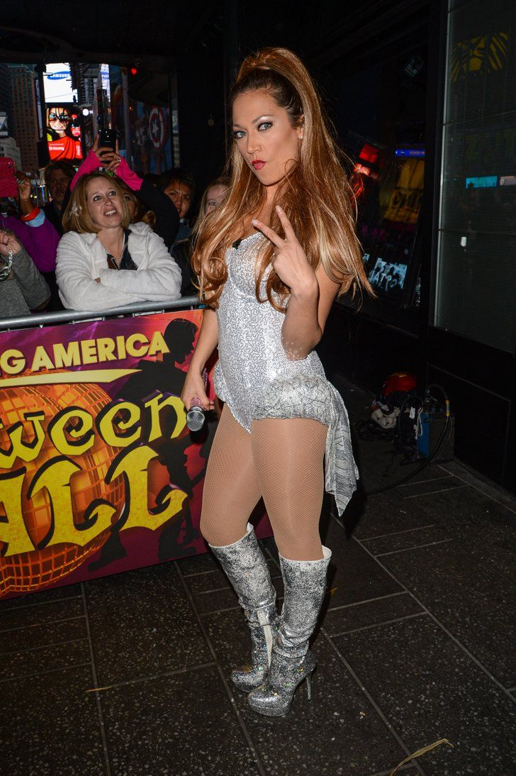 Pin for Later: The Good Morning America Crew Went All Out For Halloween This Year Ginger Zee as Ariana Grande