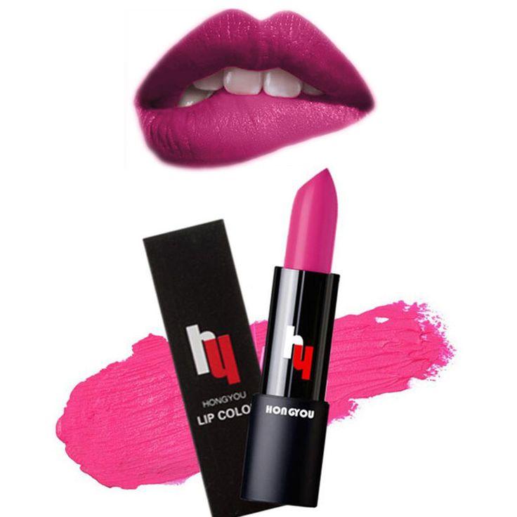2016 Hot Sale  Sexy Long Lasting Waterproof Matte Lipstick Makeup Moisturizer Lip Gloss Makeup Accessories Tool Korean Cosmetics