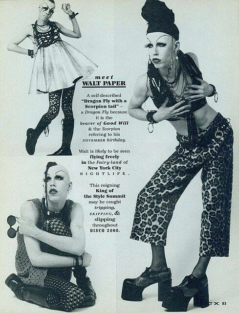 NYC club kids and drag queens 90's Walt Paper Project X Magazine