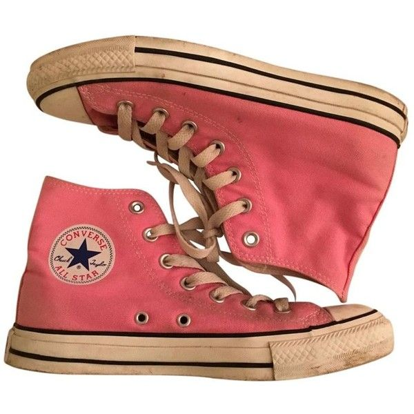 Converse rosa CONVERSE ($54) ❤ liked on Polyvore featuring shoes, sneakers, pink shoes, converse footwear and converse shoes