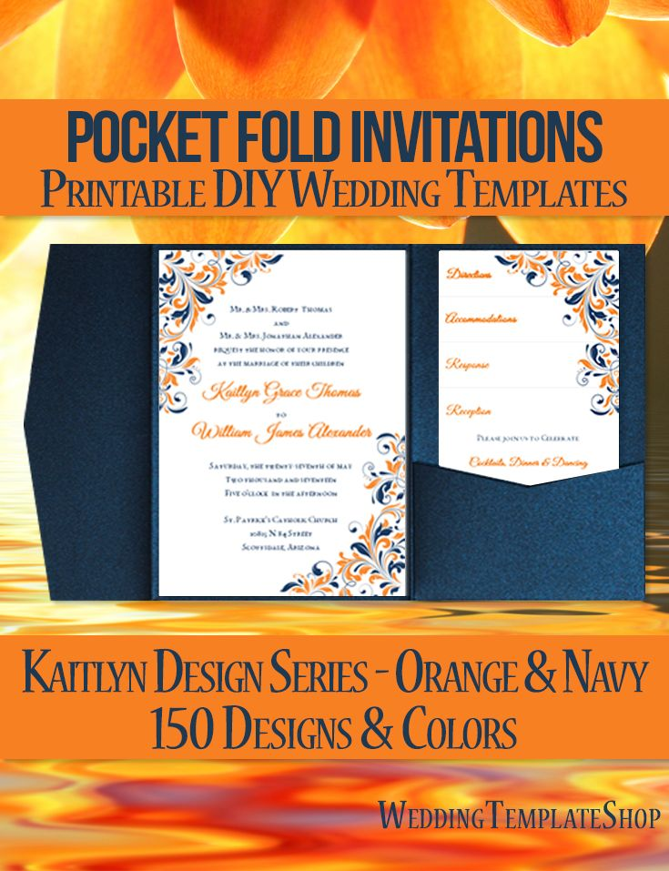 117 best Pocketfold Wedding Invitations, DIY Printable Templates ...