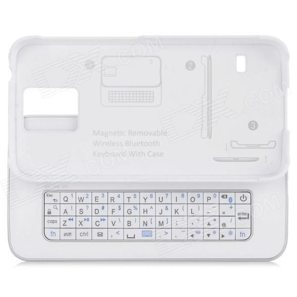 Color: White; Brand: N/A; Model: N/A; Material: ABS; Quantity: 1 Set; Compatible Models: Samsung Galaxy S5; Connection: Others,Bluetooth V3.0; Keys: 51; Operating Range: 10 m; Built-in Battery Capacity : 280 mAh; Standby Time: 100 Hour; Charging Time: 2-3 Hour; Working Time: 60-70 Hour; Packing List: 1 x Bluetooth keyboard1 x English user manual1 x Micro USB charging cable (60cm); http://j.mp/1peVWd2
