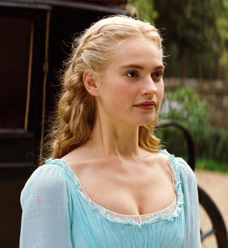 Lily James as Cinderella. What a darling girl!