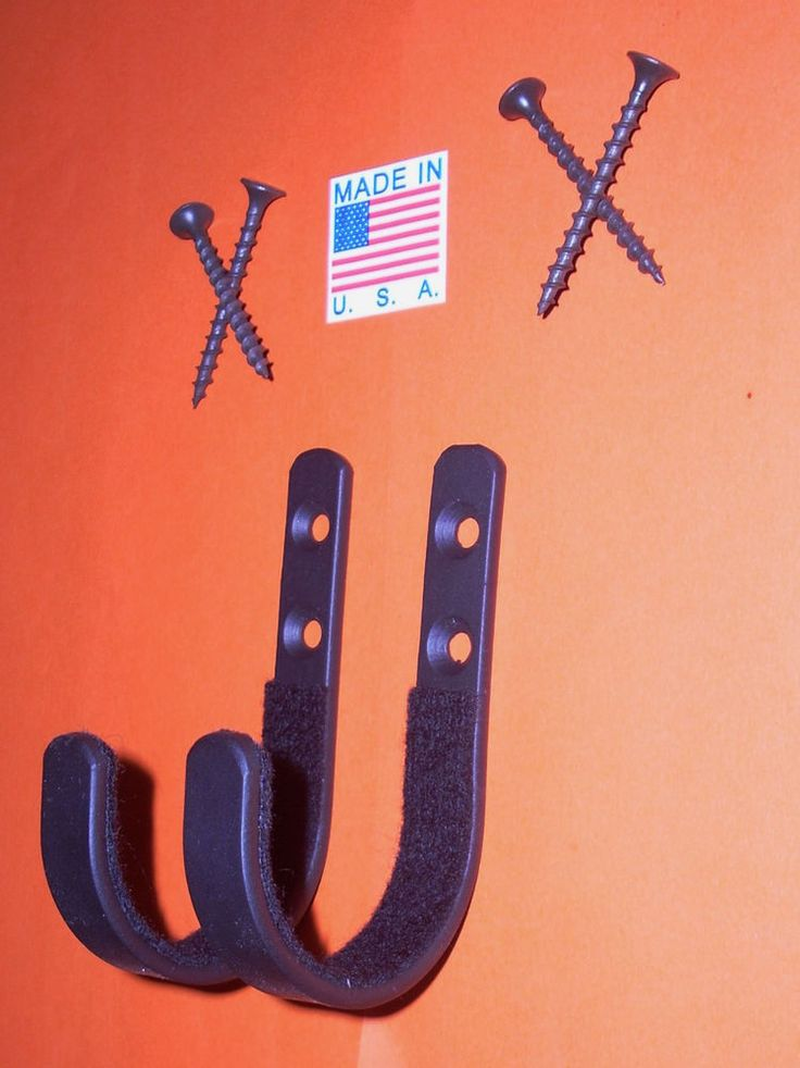 Black Gun Hooks Wall Mount Gun Rack Storage Hooks Sword