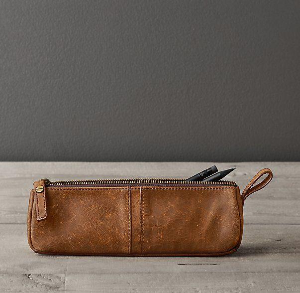 Italian Leather Pencil Case